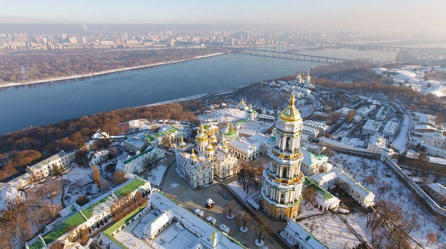 Любуемся Киевом с вертолета