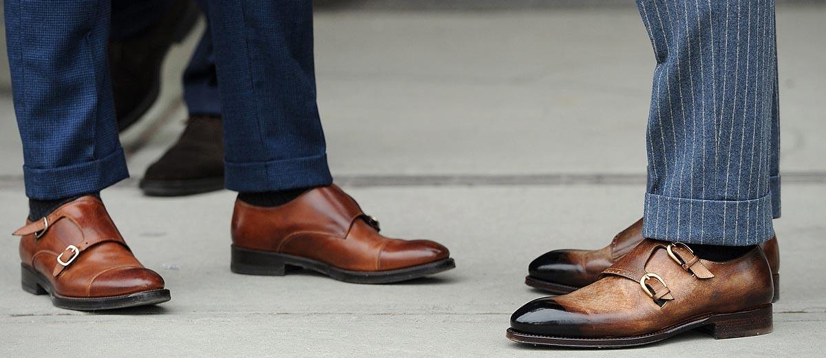 модные коричневые туфли