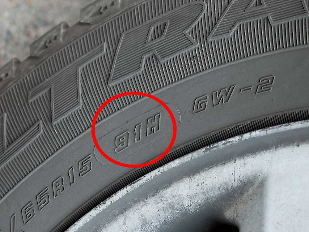 маркировка - индекс скорости