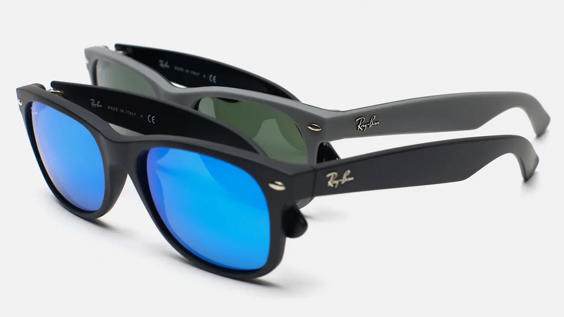 трапециевидные солнцезащитные очки Ray Ban