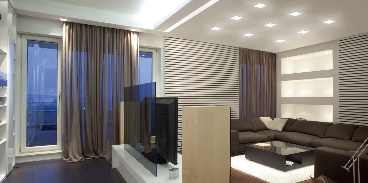 Архитектурное освещение интерьера квартиры