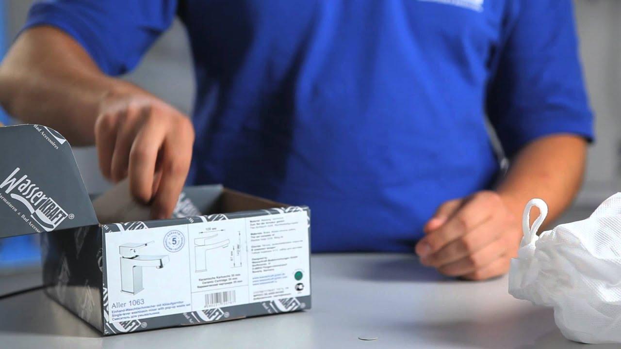 Проверяем комплектность смесителя в упаковке