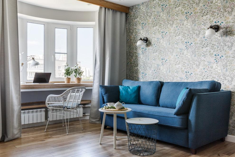 купить синий диван