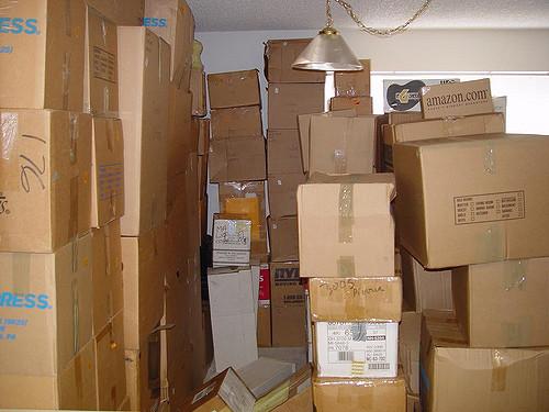 Упакованные для переезда коробки