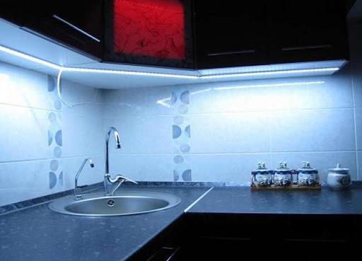 Эффективное светодиодное освещение кухни