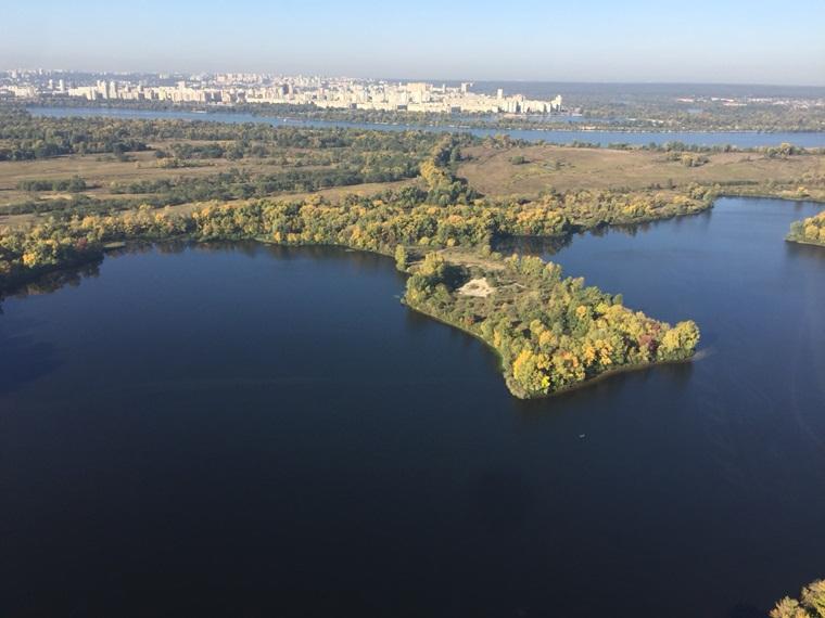 Вид на Киев с высоты птичьего полета