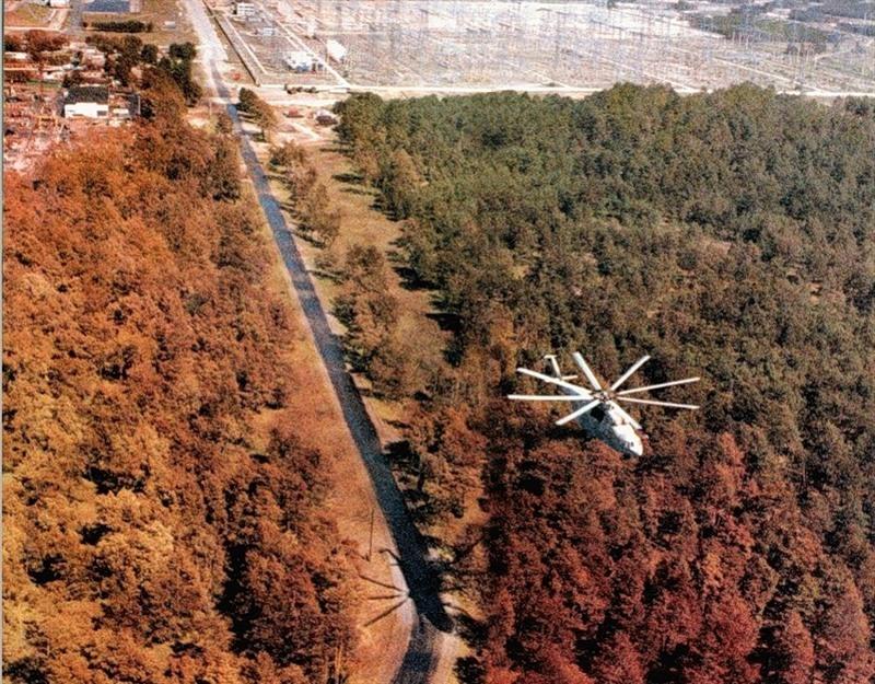 полет на вертолете в зону отчуждения