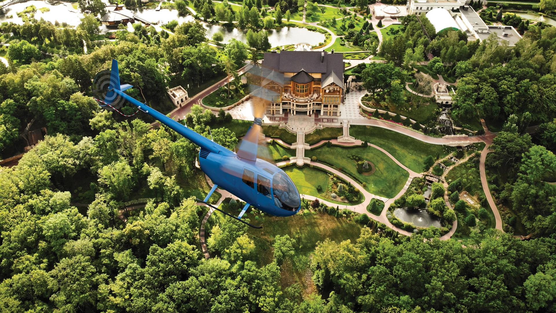 полет на вертолете в Межигорье