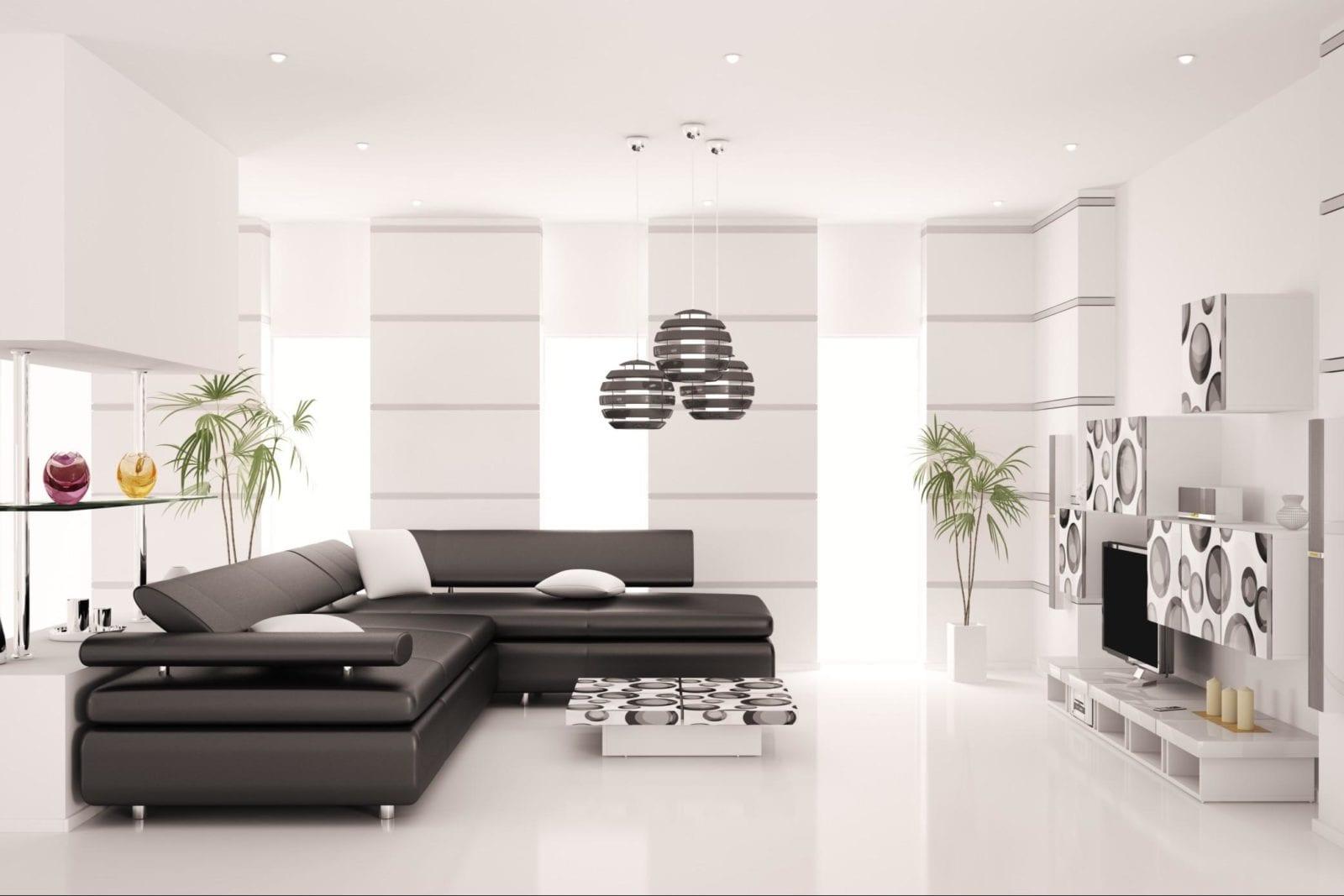 элитная мебель в гостиной хай тек