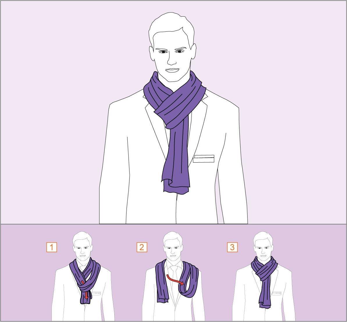 способ завязывания шарфа огни парижа
