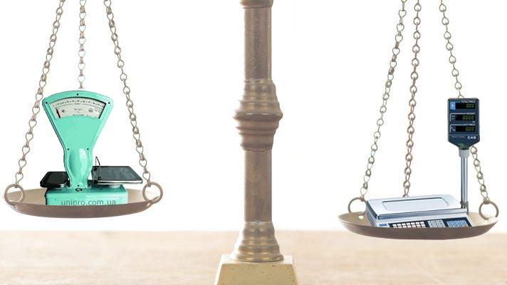 электронные или механические весы