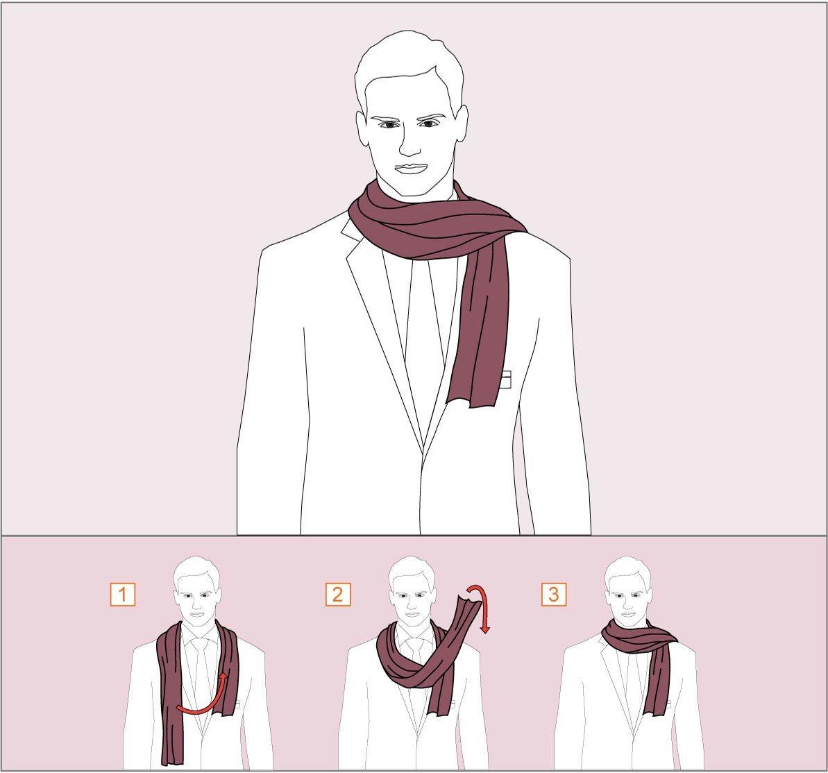 способ завязывания шарфа свободный художник