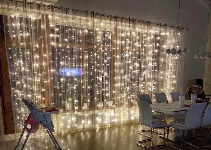 гирлянда светодиодная штора