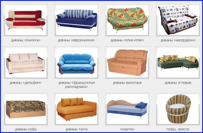 Механизмы раскладки мягкой мебели