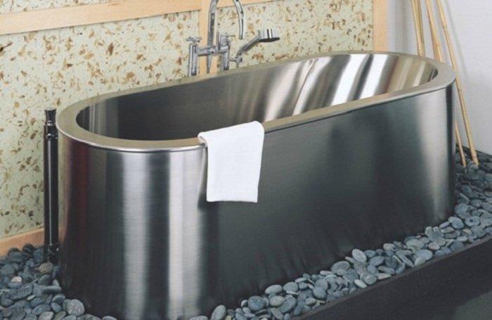 стальная ванна из нержавейки