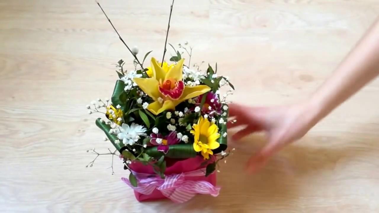 Минимальный уход за цветами в коробке