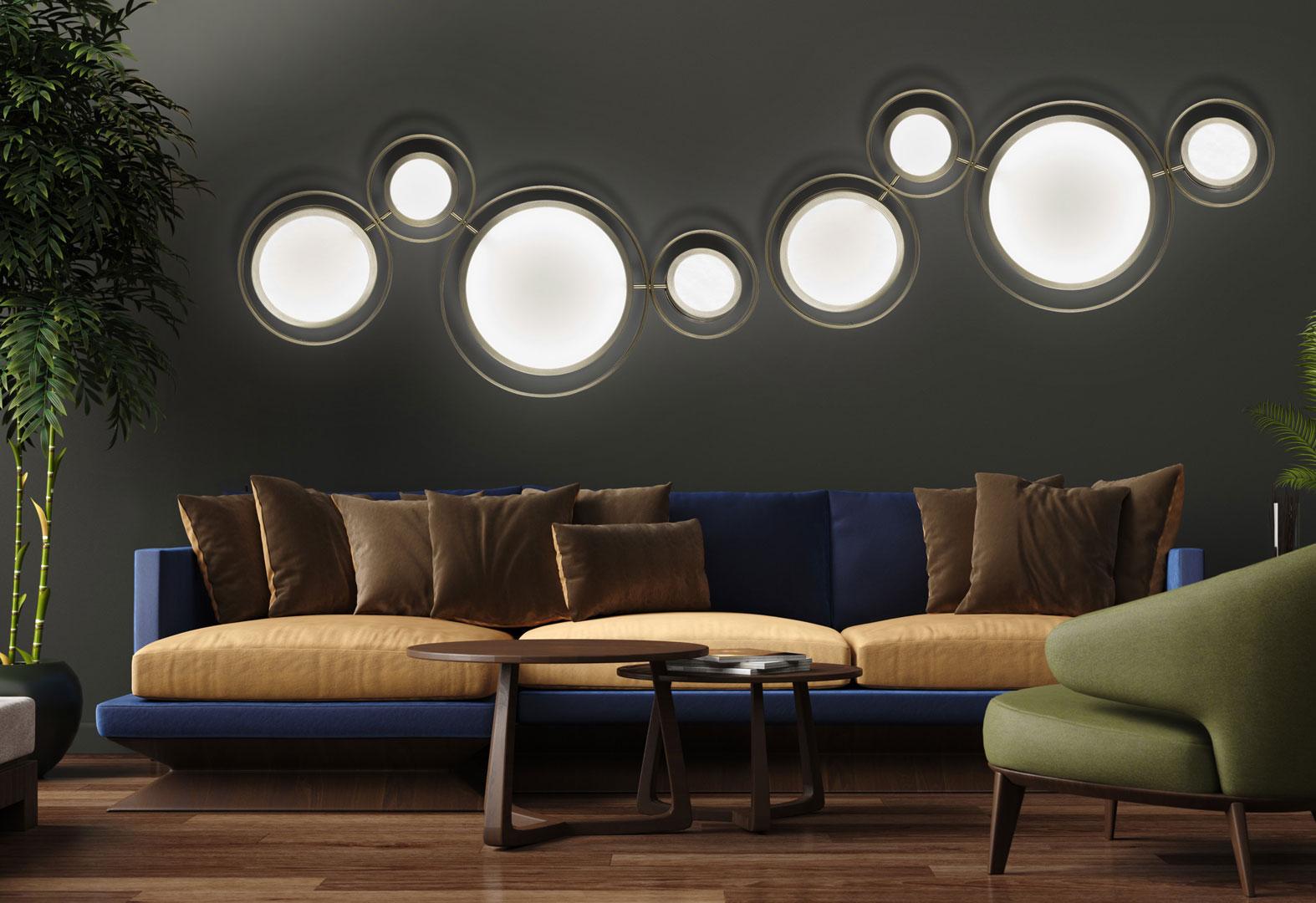 настенные светильники в интерьере