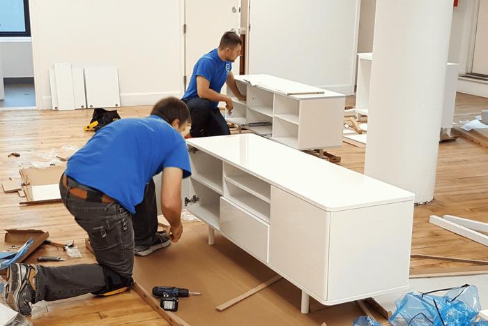 как разобрать мебель для перевозки