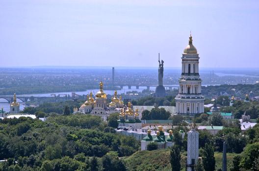 прогулка над Киевом на вертолете
