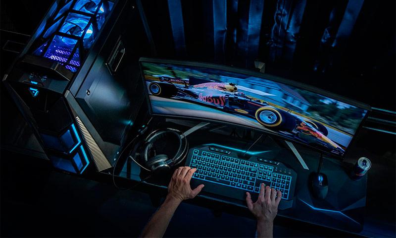 геймерский комп с прозрачной крышкой
