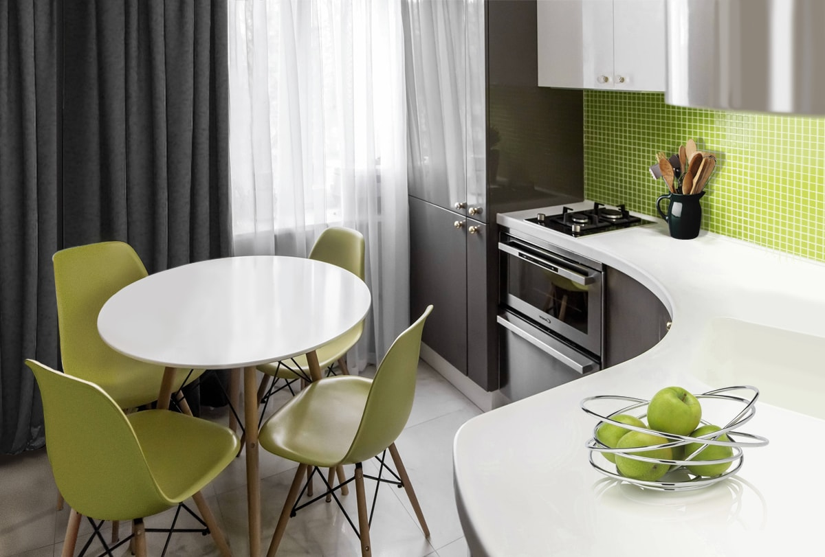 как подобрать стол для маленькой кухни